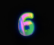 Colorful Dichroic Font - Numbe...