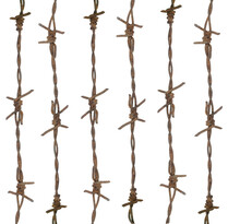 Picture Of Barbed Wire On A White Background