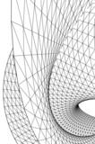 Fototapeta Do przedpokoju - abstract 3d mesh wire background