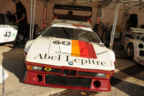 Imola Classic 22 Oct 2016 - BMW M1 - 1979 in the box during practice on Imola Circuit, Italy.