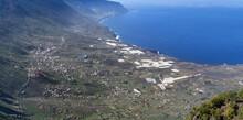 El Hierro - Gezoomter Panoramablick Ins El Golfo Tal Rund Um La Frontera, Aufgenommen Vom Aussichtspunkt Mirador De Jinama