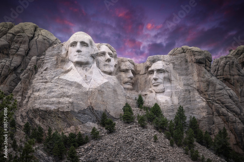Mt. Rushmore Under a Stunning Sky #385754186