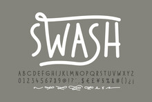 Handwitten Font With Swashes. ...