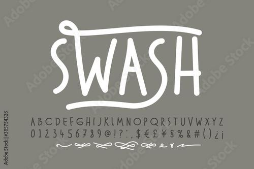 Slika na platnu Handwitten font with swashes