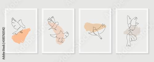 Valokuva Birds wall art vector set