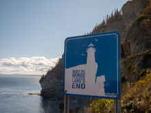 Land's End Sign In The Forillo...