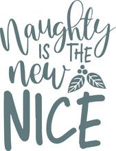 Naughty Is The New Nice Logo S...