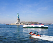 Statue Of Liberty With Racing ...