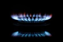 Kitchen Gas Burner Blue Gas Fl...