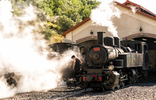 Old Steam Train Locomotive In ...
