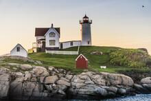Sunrise At Nubble Lighthouse, ...