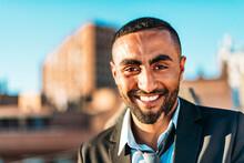 Handsome Male Entrepreneur Smi...