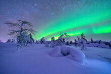 Northern Lights Over Snow-cove...