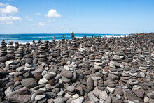 Stacked Rocks At Playa Del Cas...