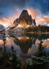 Scenic View Of Mount Assiniboi...