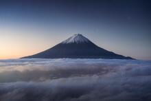 Scenic View Of Mount Fuji Agai...