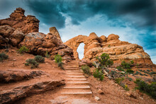 Path Leading Towards Turret Arch In Arches National Park