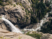 Aerial View Of Lower Yosemite Falls During Spring