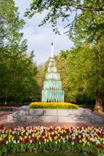 View Of Monument In Keukenhof ...