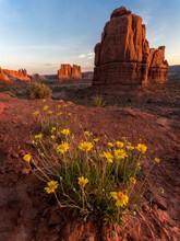 View Of Rock Formations In Utah