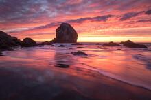 Scenic View Of Mile Rock Beach...