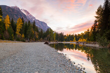 Sunset At Avalanche Creek In G...