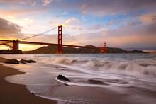 Golden Gate Bridge During Sunset