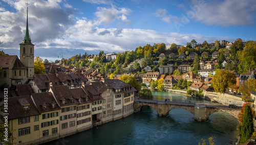 Foto The historic district of Bern - the capital city of Switzerland - travel photogr