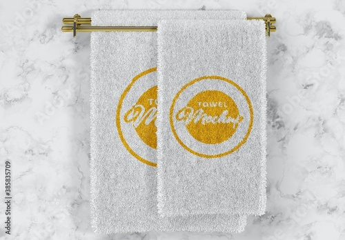 Folded Soft Terry Towel Mockup