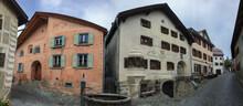 A Swiss Village Of Guarda In Canton Graubunden