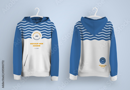 Hoodie Mockup with Pocket with 6 Hanger Options