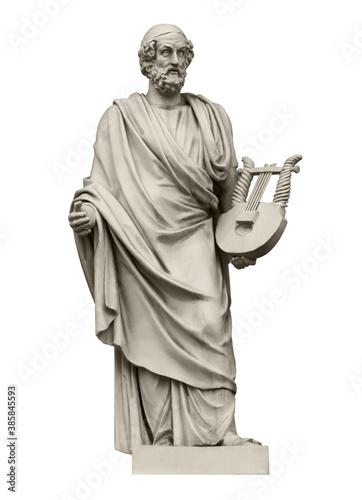 Fotografie, Obraz Statue of the great ancient Greek poet Homer
