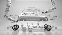Robotic Arms Assembling Car Pa...