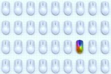 Rainbow Computer Mouse Among R...
