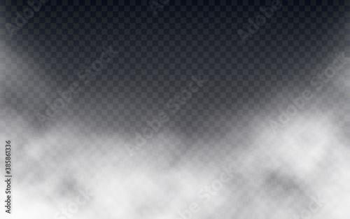 Fototapeta Smoke or fog isolated on transparent backdrop