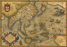 Antique Map Of China And Southeast Asia