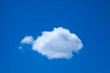 青空に浮き雲