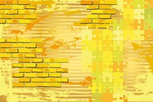 Shiny Grunge Yellow Background - Illustration,  Abstract Mosaic Vector