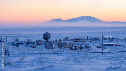 Winter Arctic industrial landscape Wallpaper Mural
