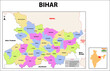 Bihar Map. bihar district map, India. Bihar, India, vector map isolated on white background. High detailed silhouette illustration.