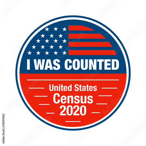 Obraz na plátne I participated and I was counted in the USA census 2020 sticker and badge