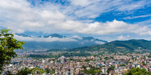 Panoramic Top View Of Katmandu...