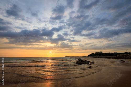 Cuadros en Lienzo 夕日と海