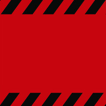 Red And Black Caution Square W...