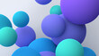Abstract 3d render of colorful spheres, modern background design
