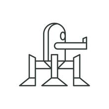 Walking Turret Icon. Robotic Symbol Modern, Simple, Vector, Icon For Website Design, Mobile App, Ui. Vector Illustration