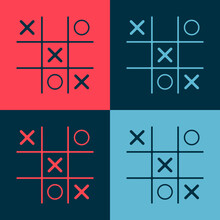 Pop Art Tic Tac Toe Game Icon ...