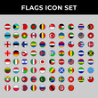flags country icon set include austria,bahrain,canada,england,finland,germany,greenland,indonesia,japan,italy,palestine,singapore,russia,turkey