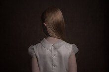 Studio Portrait Of Girl In Whi...