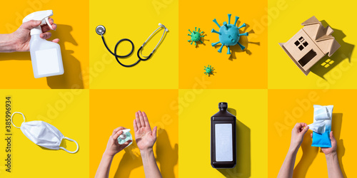 Fototapeta Prevent virus and germs - healthcare and hygiene concept obraz